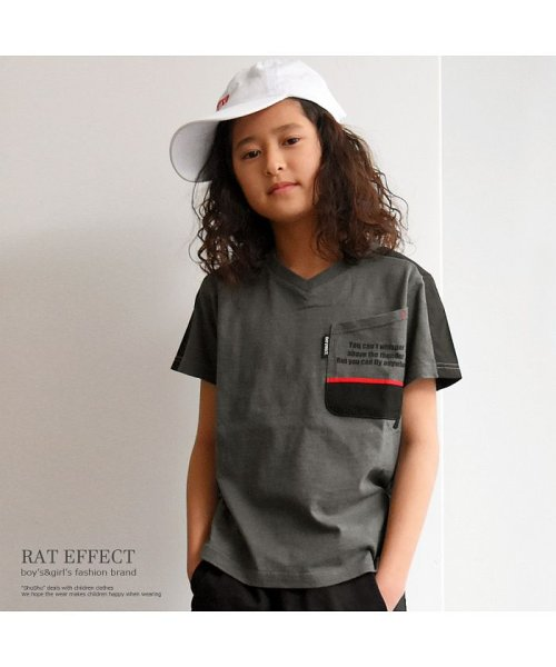 RAT EFFECT(ラット エフェクト)/切替ポケットTシャツ/RTS92403