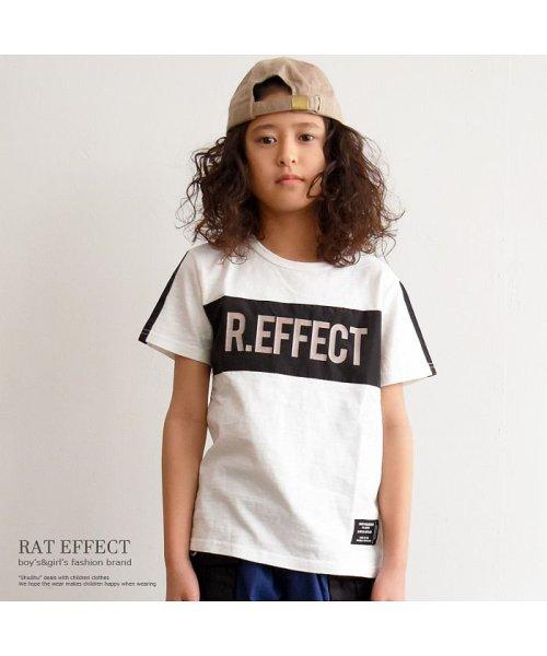 RAT EFFECT(ラット エフェクト)/リフレクタープリントナイロン切替Tシャツ/RTS92407
