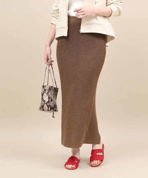 ROPE' mademoiselle(ロペ マドモアゼル)/和紙混ロングニットタイトスカート/GWC29050