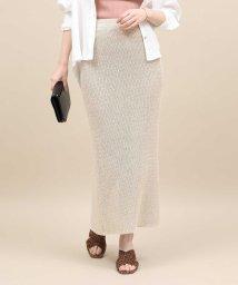 ROPE' mademoiselle/和紙混ロングニットタイトスカート/501954776