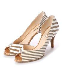 UNTITLED shoes/アンタイトル シューズ UNTITLED shoes オープントゥパンプス (ベージュエナメルコンビ)/501955826