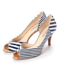 UNTITLED shoes/アンタイトル シューズ UNTITLED shoes オープントゥパンプス (ネイビーエナメルコンビ)/501955828