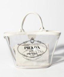 PRADA/【PRADA】2WAYハンドバッグ/PLEX CANAPA【BIANCO】/501894597