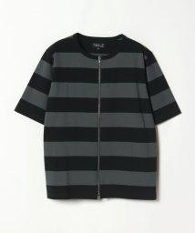 agnes b. HOMME/J019 TS ボーダージップアップTシャツ/501948182