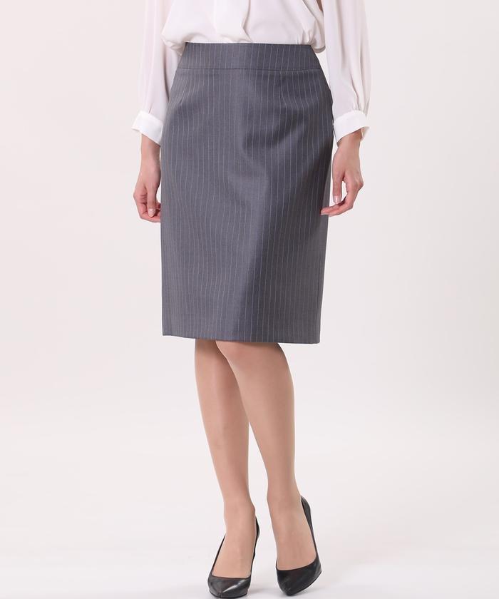 《INED International》ピンストライプスカート《Loro Piana》