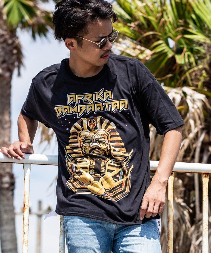 163(イチロクサン) AFRIKA BAMBAATAA 裾テープ付ビッグTシャツ