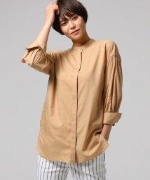 UNTITLED/[L]袖ギャザーバンドカラーシャツ/501957990