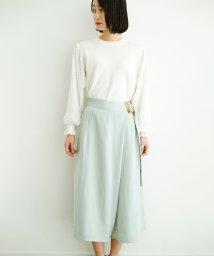 haco!/スカート見えしつつ ちゃんと動きやすいバックル付きフレアーパンツ/501928167