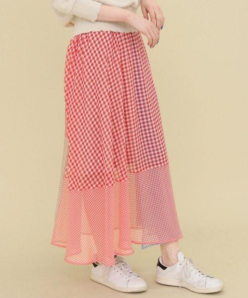 【セットアップ対応商品】【KBF】クレイジーパターンギンガムスカート