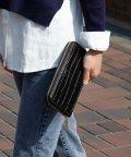 UNGRID bag/クロコ風型押しラウンドウォレット/501937336