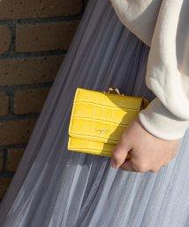 UNGRID bag/クロコ風型押しガマ口ウォレット/501937338