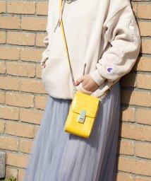 UNGRID bag/クロコ風型押し縦型マルチケース(ポシェットウォレット)/501937340