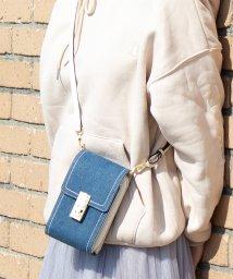 UNGRID bag/デニム/キャンバス縦型マルチケース(ポシェットウォレット)/501937342
