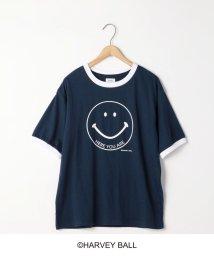 coen/スマイルプリントリンガーTシャツ/501938363