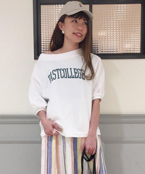 FREDY REPIT(フレディレピ)/ミニ裏毛オフショルダープルオーバー/9-0012-2-23-003