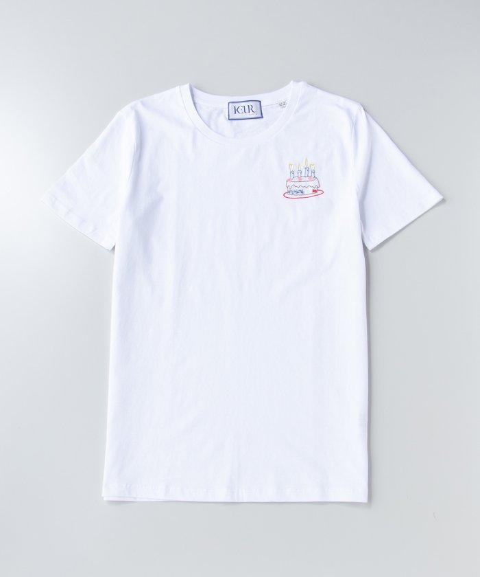 【20th企画】【KEUR】ケーキステッチTシャツ