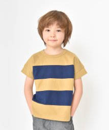 branshes/ワイドボーダー切替半袖Tシャツ/501956878