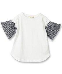 branshes/袖チェック半袖Tシャツ(80~150cm)/501956887
