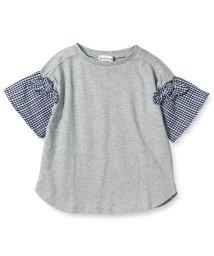 branshes/袖チェック半袖Tシャツ/501956887