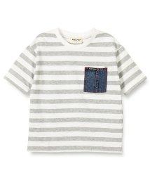 RADCHAP/デニムポケットボーダー半袖Tシャツ/501956894