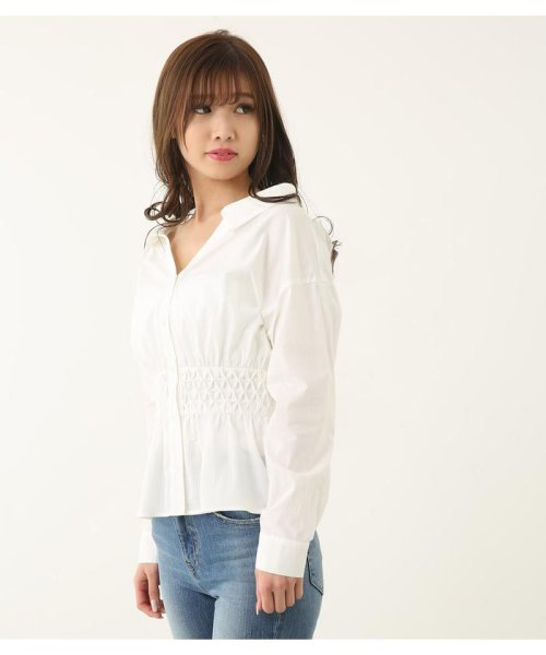 rienda(リエンダ)/スモッキングペプラムシャツトップス/110CS630-1250