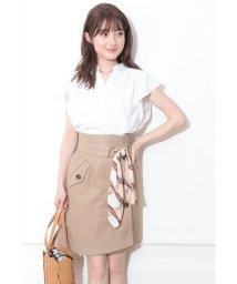 Rirandture/【美人百花5月号掲載】スカーフ付配色ステッチスカート/501959920