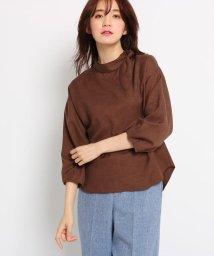 INDIVI/[L]フラッカーサ  リボンシャツ/501960522
