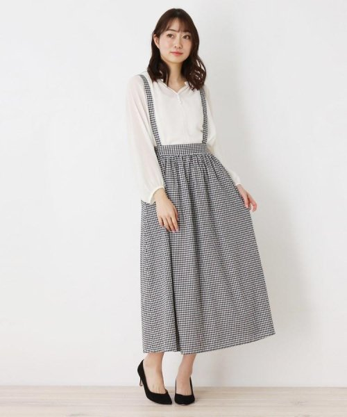 pink adobe(ピンクアドベ)/サス付きロングギャザースカート/20190176376211
