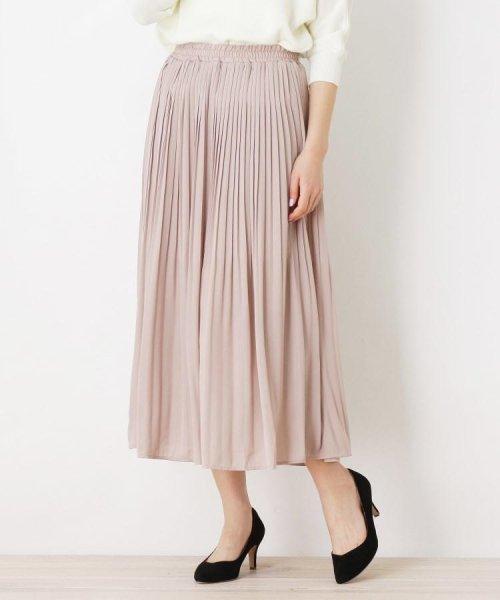pink adobe(ピンクアドベ)/ゆるプリーツ シフォンスカート/20190176376214