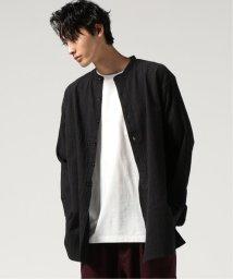 J.S Homestead/SASHIKO CREPE BAND COLLARロングシャツ/501960846