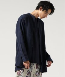 J.S Homestead/SASHIKO CREPE BAND COLLARロングシャツ/501960846