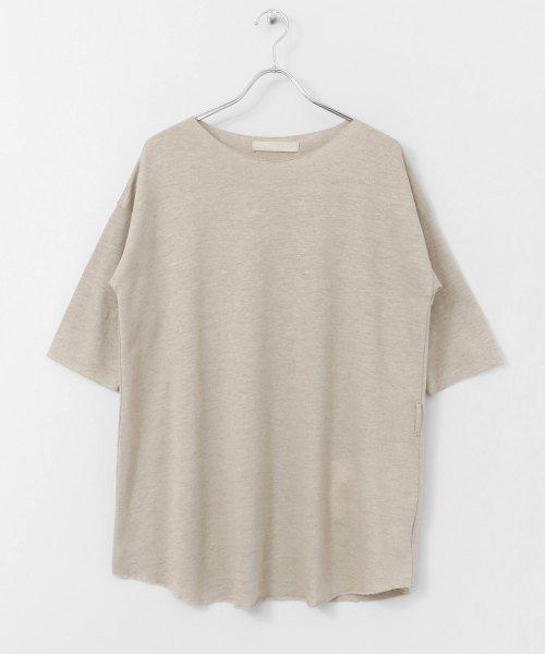 siiwa リネンブラウジングTシャツ