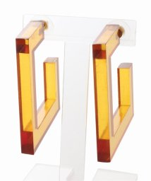 JOURNAL STANDARD relume/【INK+ALLOY/インク+アロイ】 Amber lucite square hoop earring:ピアス/501961529