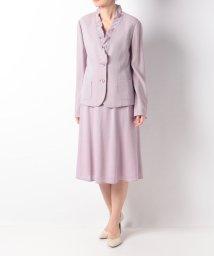 Leilian/フリルネックジャケット×スカートスーツ/500882782