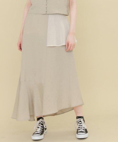 【KBF】リネンMIXパッチスカート