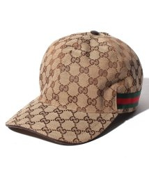 GUCCI/【GUCCI】キャップ / GGキャンバス 【BEIGE/EBONY+CACAO-VRV】/501936068