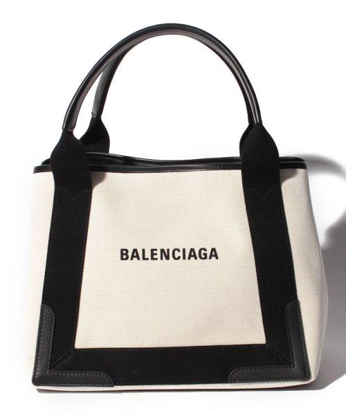 BALENCIAGA(バレンシアガ)/【BALENCIAGA】トートバッグ/NAVY CABAS S【NATUREL/NOIR】/339933AQ38N1081
