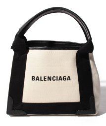 BALENCIAGA/【BALENCIAGA】2WAYトートバッグ/NAVY CABAS XS 【NATUREL/NOIR】/501938526
