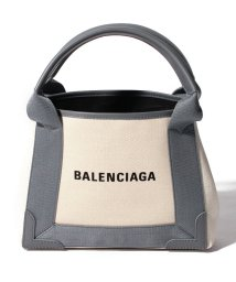 BALENCIAGA/【BALENCIAGA】2WAYトートバッグ/NAVY CABAS XS 【NATUREL/GRIS SOURIS】/501938527