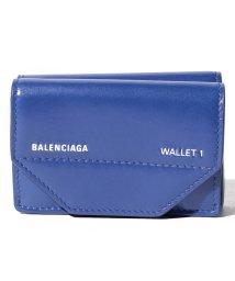 BALENCIAGA/【BALENCIAGA】3つ折り財布/ETUI MINI WALLET【BLEU ELE./L BLANC】/501938537