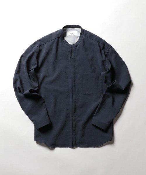NOLLEY'S goodman(ノーリーズグッドマン)/バンドカラーZIP UPシャツブルゾン/9-0086-1-71-040