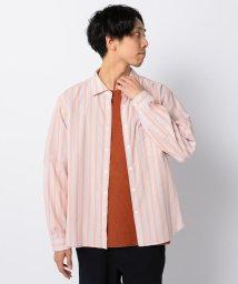 GLOSTER/ストライプ ポプリンシャツ/501949917