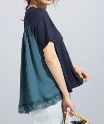 nano・universe/MUVEIL WORK×AntiSoaked裾レースTシャツ/501957226