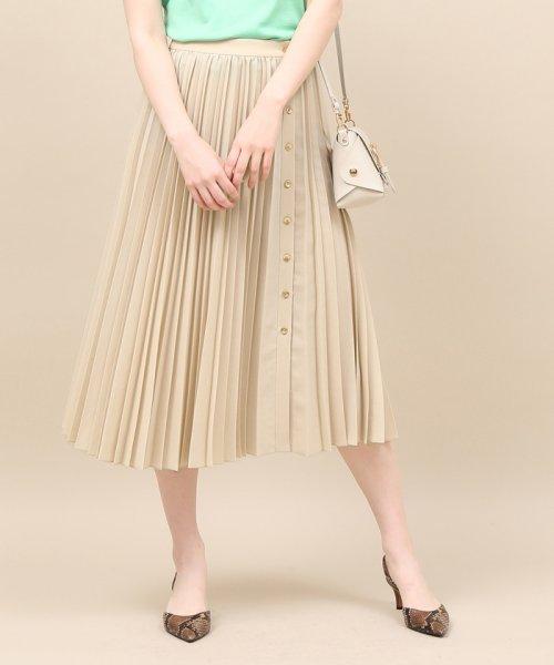 ROPE' mademoiselle(ロペ マドモアゼル)/サイドボタンプリーツスカート/GWC49140