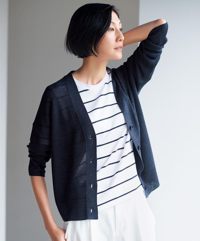 【亜希さん着用】コットンモダール ジャージーTシャツ(検索番号F49)