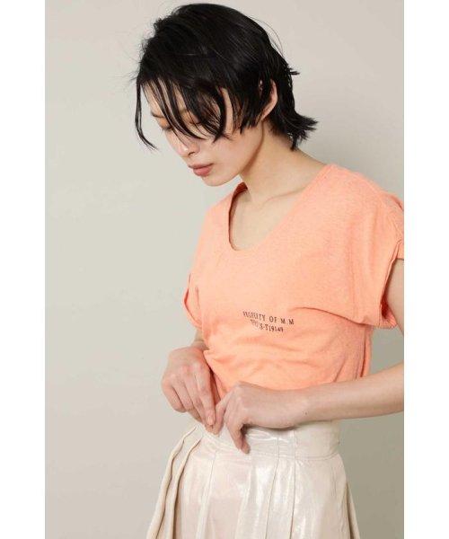 ROSE BUD(ローズバッド)/[7月号GISELe掲載]ロゴTシャツ/6009113052