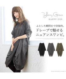 HAPPY EXP/フロントドレープワンピース/501962730
