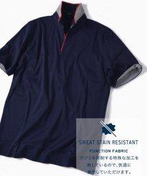 SHIPS MEN/SC: 汗ジミ軽減加工 リブ スキッパー ショートスリーブ ポロシャツ 19SS/501962849