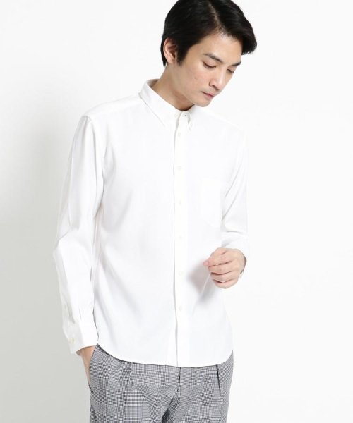 OPAQUE.CLIP(オペークドットクリップ)/【洗濯機洗いOK】ミニボタンダウンシャツ/201901F3686005