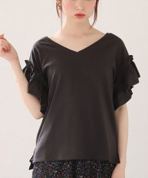 NICE CLAUP OUTLET/【one after another】そで切替ひらひらTシャツ/501943270